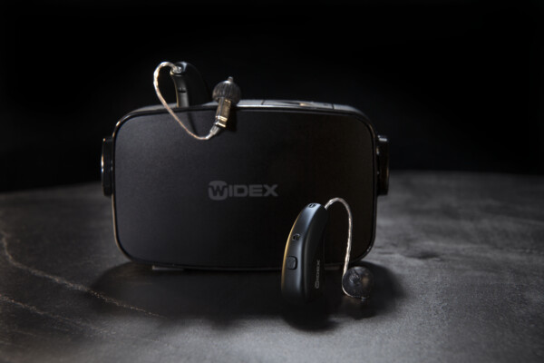 Widex hearing aids and charger